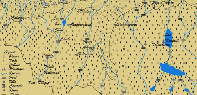 Carte du Nord de la Mer D'Alack