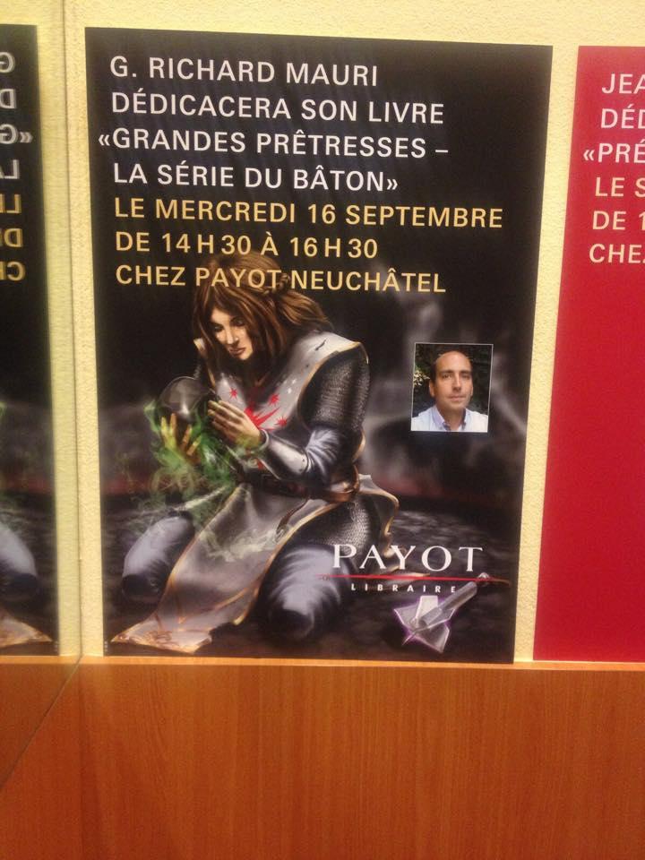 Séance de dédicace à la librairie Payot de Neuchâtel