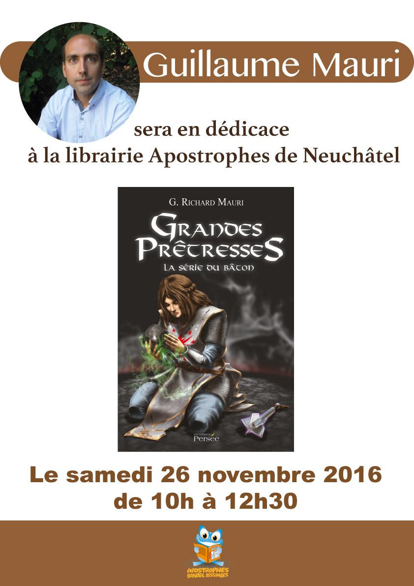 Dédicace à la Librairie de BD l'Apostrophe, Neuchâtel