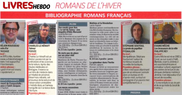 Rentrée d'Hiver Livres Hebdo 2016 avec 3 titres des Editions Persée