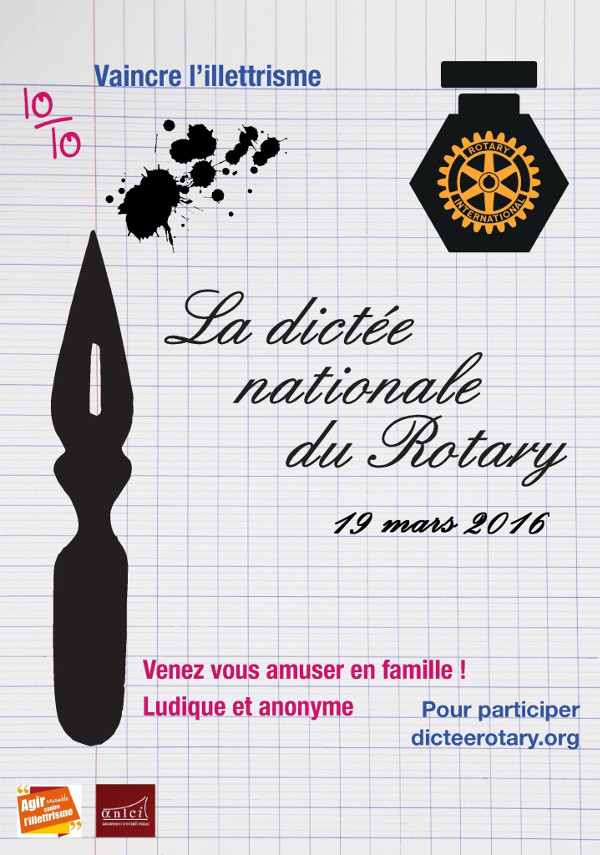 Les Editions Persée partenaires de la Dictée Nationale du Rotary 2016